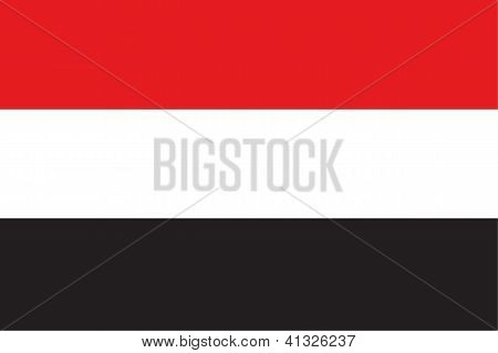 Illustrated Drawing of the flag of Yemen