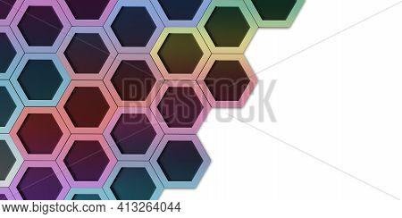 Hexagon Nest Hexagonal Frame Abstract Geometry Hexagonal Solid Steel Material Surface Technology Fra