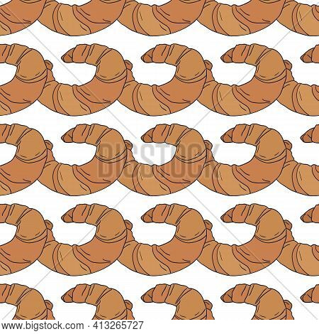 Vector Seamless Pattern With Different Sweets And Cakes-04