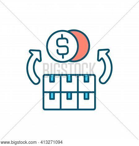 Assets Liquidation Rgb Color Icon. Bankruptcy Procedures. Debts Repayment. Assets, Property Converti