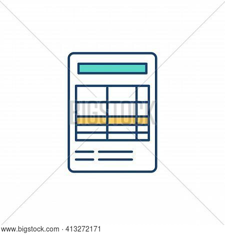 Financial Report Rgb Color Icon. Business Activities Record. Financial Statement. Balance Sheet. Com