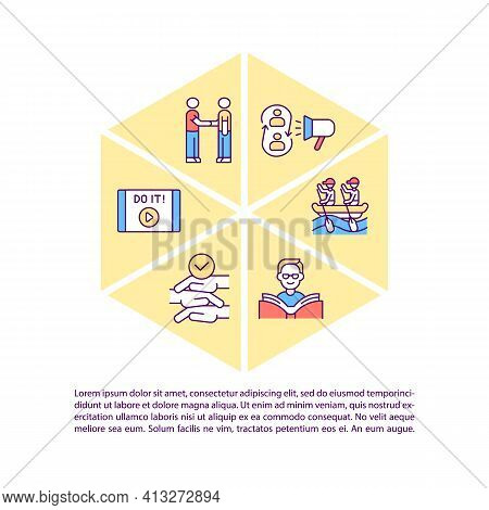 Motivational Content Concept Icon With Text. Inspiring Employees For Better Work And Education. Ppt
