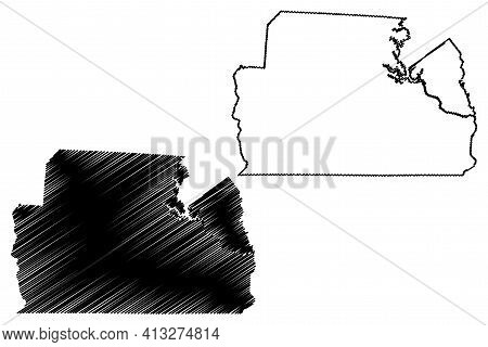 York County, State Of South Carolina (u.s. County, United States Of America, Usa, U.s., Us) Map Vect