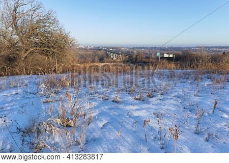 Overlooking River Valley From Historic Pilot Knob Preservation Site In Mendota Heights Minnesota