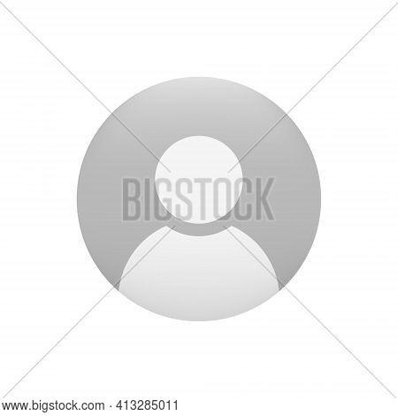Avatar Profile Icon. Default Social Media User Vector