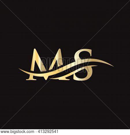 Ms Logo Design. Initial Ms Letter Logo Design.