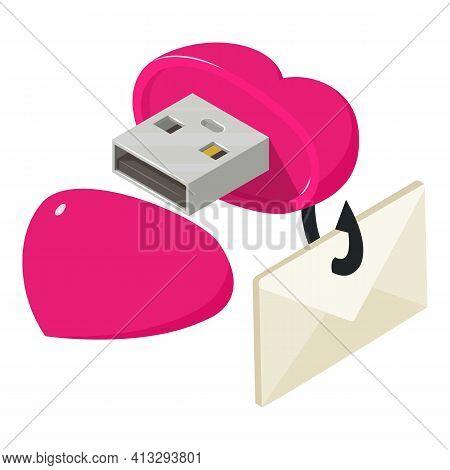 Phishing Icon. Isometric Illustration Of Phishing Vector Icon For Web
