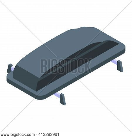 Car Roof Box Icon. Isometric Of Car Roof Box Vector Icon For Web Design Isolated On White Background