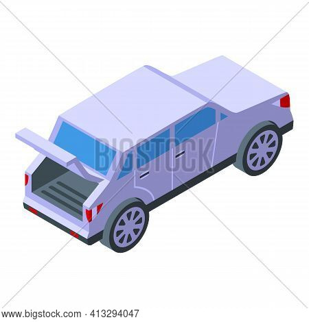 Trunk Car Icon. Isometric Of Trunk Car Vector Icon For Web Design Isolated On White Background