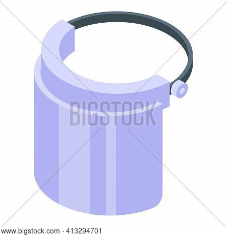 Safety Face Shield Icon. Isometric Of Safety Face Shield Vector Icon For Web Design Isolated On Whit