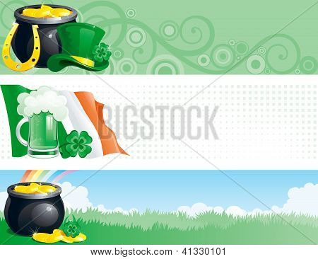 banners for  St. Patrick's Day