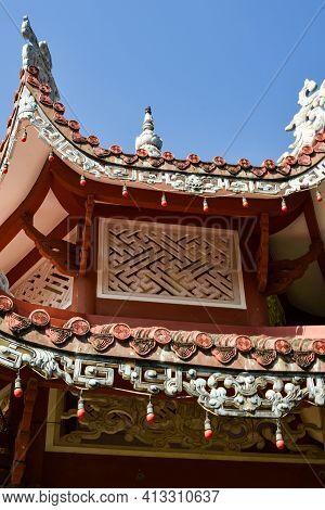 Nnychang, Vietnam - January 20, 2020 Long Sean Temple, Nha Trang City, Long Sean Pagoda, Statue, Lan