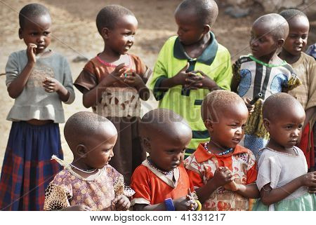 African children from Masai tribe