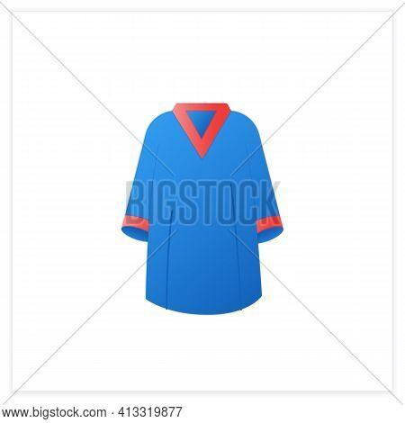 Graduation Dress Flat Icon. Special Graduate Mantle. Holiday Costume. Graduate Uniform.graduation Co