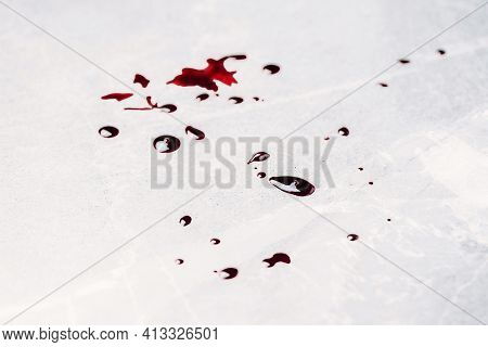 Bloody Nails On Grey Stone Background. Banner. Copy Space. Good Friday. Passion, Crucifixion Of Jesu