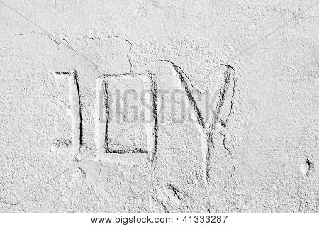 Lettering Joy on Concrete