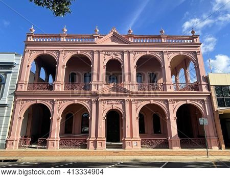 Facade Of The School Of Arts, A Massive Masonry Building Erected In 1889 In Classical Revival Style,
