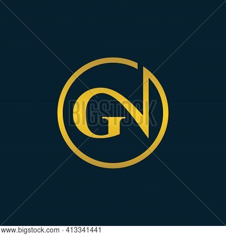 Alphabet Letters Initials Monogram Logo Gn Or Ng, G And N.illustration Vector