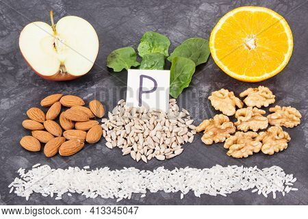 Products And Ingredients Containing Natural Vitamin P, Dietary Fiber And Minerals. Best Nutritious F