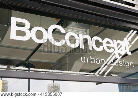 Bordeaux , Aquitaine France - 03 18 2021 : Boconcept Sign Text And Brand Shop Logo Bo Concept Home S