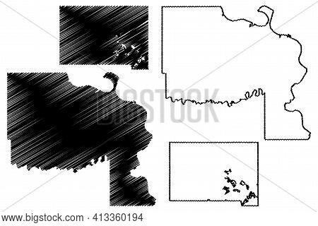 Marshall And Lyman County, State Of South Dakota (u.s. County, United States Of America, Usa, U.s.,