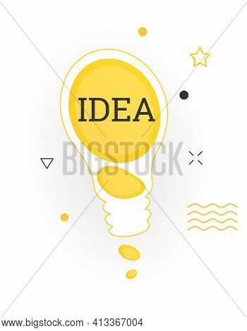 Interesting Facts Bubble Symbol. Banner Or Sicker With Word Idea. Social Media Faq Banner With Speec