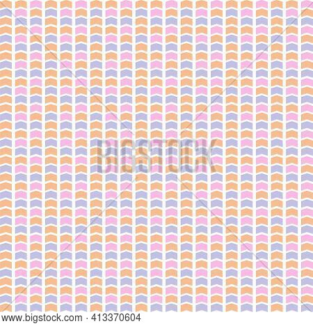 Abstract Geometric Seamless Pattern. A Gentle Multicolored Background.
