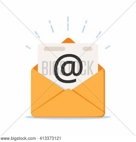 Mail Icon, Envelope Icon Vector. Mailing, Envelope Illustration. Internet Letter, Mail Icon. Opened