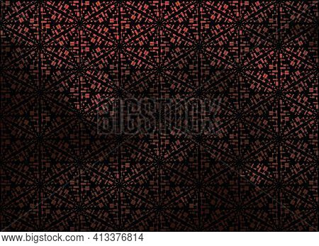 Dark Red Vector Low Poly Cover. Glitter Abstract Illustration With An Elegant Design. Triangular Pat