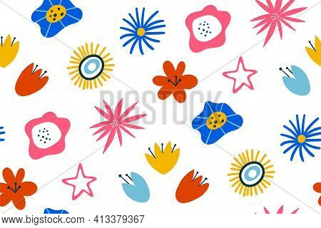 Seamless Vector Pattern For Design And Fashion Prints. Floral Seamless Pattern. Vector Design For Pa