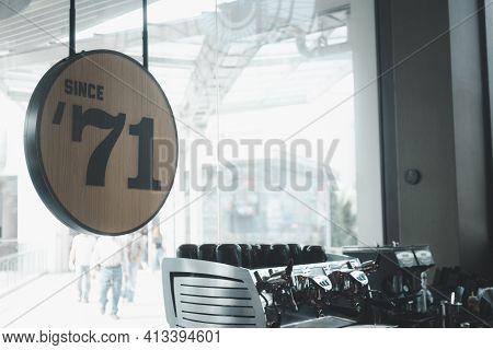 Samut Prakan, Thailand-march 20, 2021 : Starbucks Reserve Sign At Starbucks Reserve Store Mega Bangn