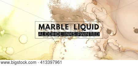 Fashion Alcohol Inks. Watercolor Marble Paint. Wedding Oil Template. Trendy Grunge Print. Color Alco