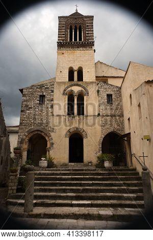 Itri, Italy Saint Micheal Romanesque Church Exterior