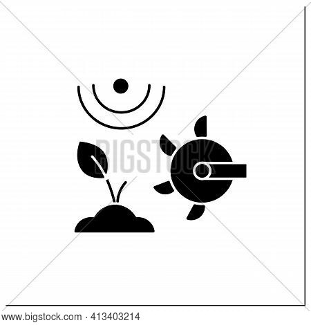 Soil Tilling Glyph Icon. Agricultural Preparation Of Soil By Mechanical Agitation. Using Digging, St