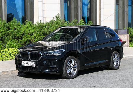 Saint Petersburg, Russia - August 20, 2020: Subcompact Luxury Crossover Bmw X1 (f48) In The City Str