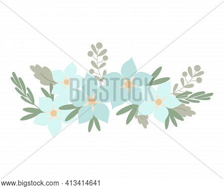 Floral Arrangement Of Simple Pastel-colored Flowers In Flat Style Vector Illustration, Symbol Of Spr