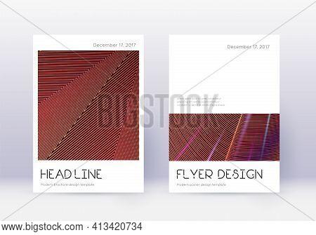 Minimal Cover Design Template Set. Orange Abstract