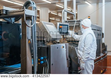 Meat Processing Plant. Production Line Of Meat.line For The Production Of Meat With Packaging And Cu