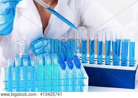 Manufacture Of Prescription Drugs. Work Pharmacist. Pharmacology. Chemical Laboratory. Control Of Th