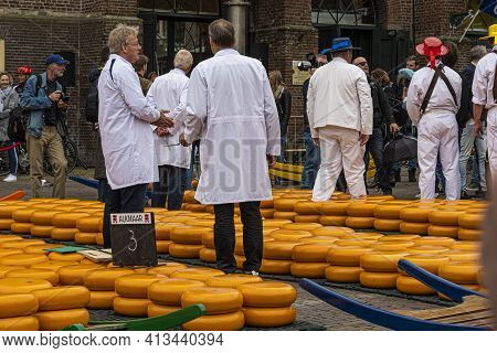 Alkmaar, Netherlands - May 18, 2018: Cheese Market The Specialists