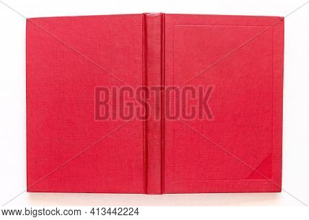 Red Book Cover Close Up Mock Up