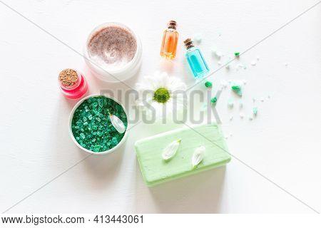 Natural Cosmetics, Soap And Flower Petals