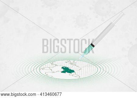 Venezuela Vaccination Concept, Vaccine Injection In Map Of Venezuela. Vaccine And Vaccination Agains