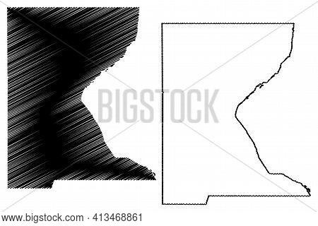 Roberts County, State Of South Dakota (u.s. County, United States Of America, Usa, U.s., Us) Map Vec