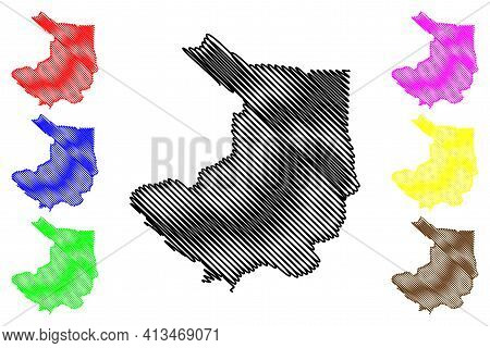 Central Equatoria State (states Of South Sudan, Equatoria Region) Map Vector Illustration, Scribble