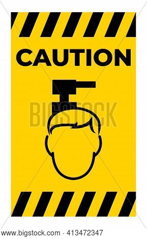 Beware Overhead Hazard Symbol Isolate On White Background,vector Illustration Eps.10