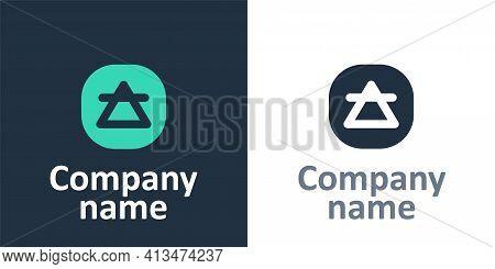Logotype Air Element Of The Symbol Alchemy Icon Isolated On White Background. Basic Mystic Elements.