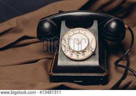 Old Retro Telephone Technology Call Nostalgia Communication