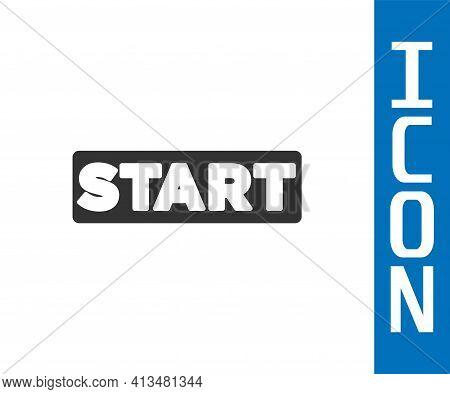 Grey Ribbon In Finishing Line Icon Isolated On White Background. Symbol Of Finish Line. Sport Symbol