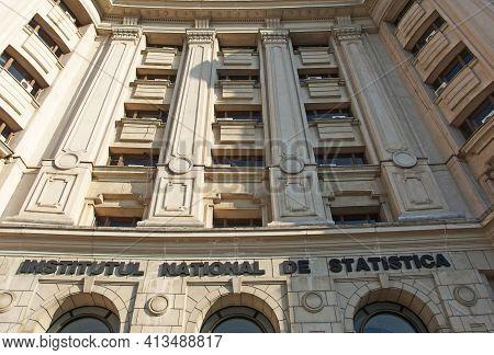 Bucharest, Romania - 02.20.2020: Cladirea Institutului National De Statistica, Din Bucuresti - Roman